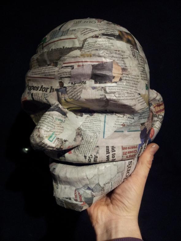 Zeus's Head, Paper Mache stage.