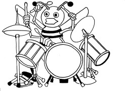 Bee on Drums
